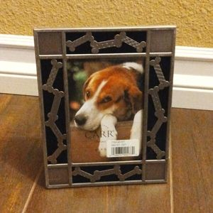 Vintage Stainless Steel Doggy  Bone Picture Frame